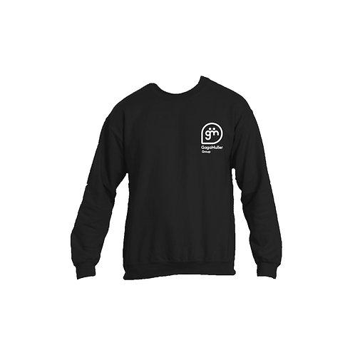 Black Jumper - Stacked logo - Large
