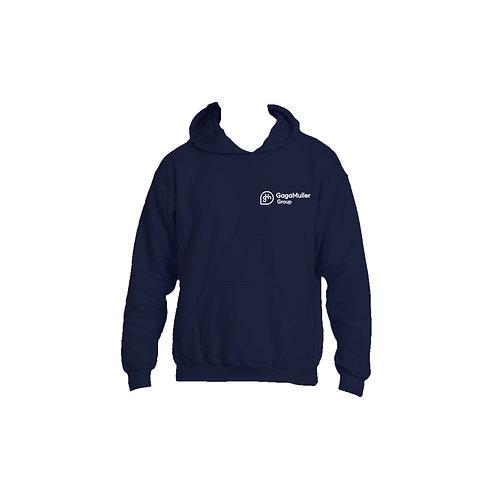 Navy Hoodie - Horizontal logo - Small