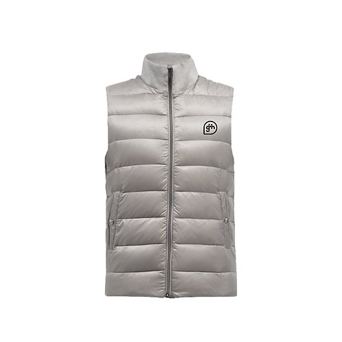 Light Grey Gillet- Logo only - Small