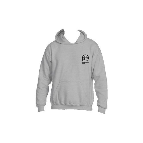 Light Grey Hoodie- Stacked logo - Small