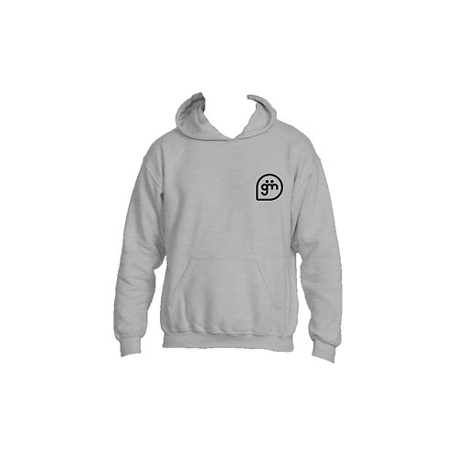 Light Grey Hoodie- Logo only - Large