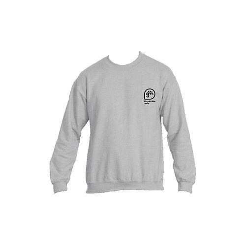 Light Grey Jumper- Stacked logo - Small