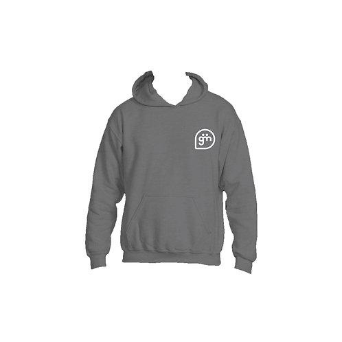 Dark Grey Hoodie- Logo only - Large