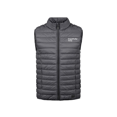 Dark Grey Gillet- Text only - Small