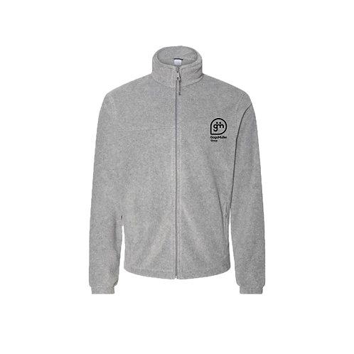 Light Grey Fleece- Stacked logo - Small