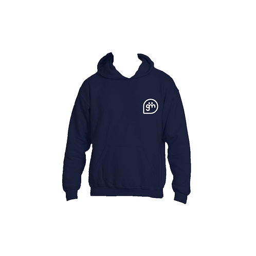 Navy Hoodie- Logo only - Large
