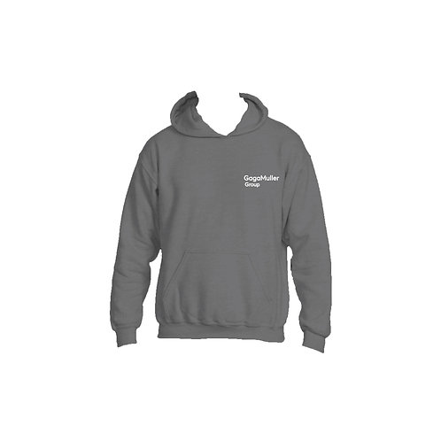 Dark Grey Hoodie- Text only - Small