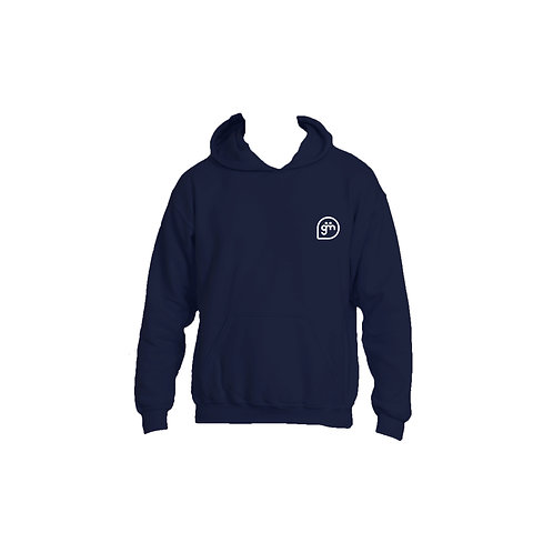 Navy Hoodie- Logo only - Small