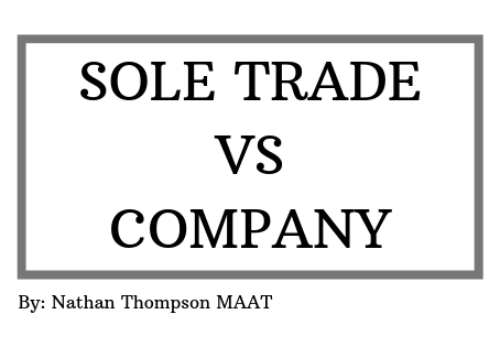 sole trader or company