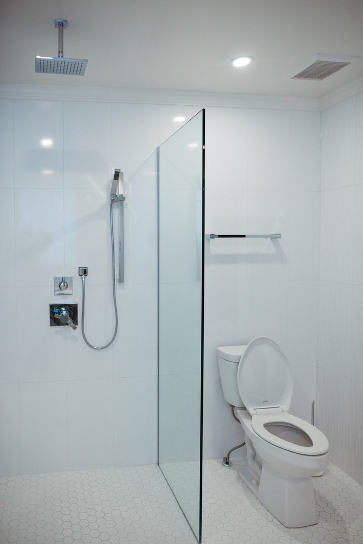 Shower and toilet