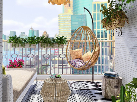 Covered Balcony, Full E-Design project.