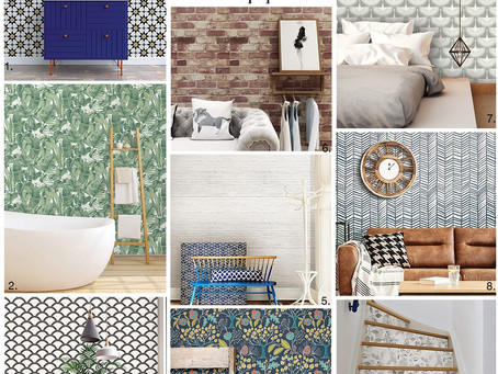 Get the Look: Peel-and-Stick Removable Wallpaper.