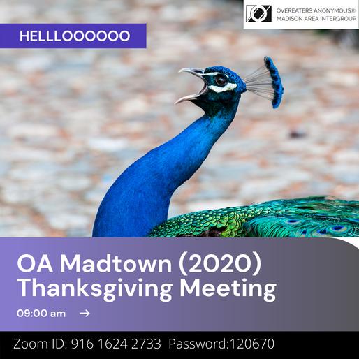 Thanksgiving 2020 Meeting