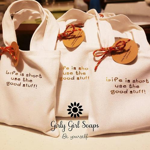Life is Short soap/hand sanitizer set