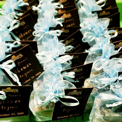 Custom shower favors contact for pricing