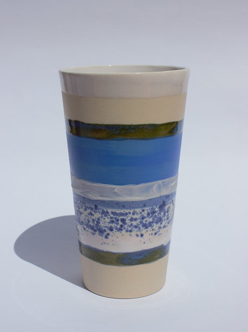 Blue Striped Tumbler