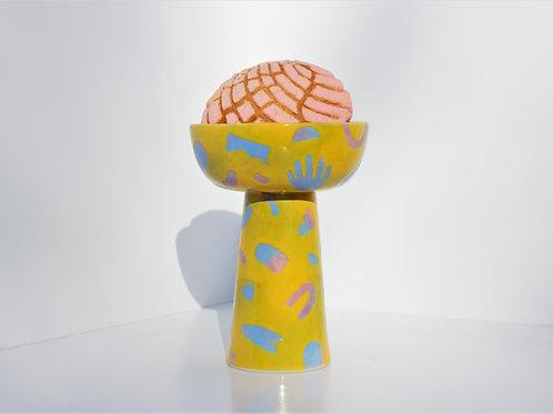 Yellow Pastel Dual Vase/Candy Bowl