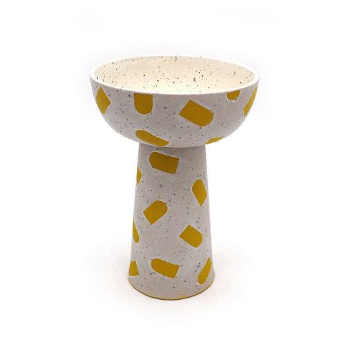 Moonstone Vase with Yellow