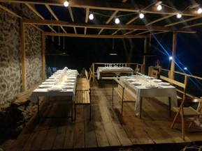 Meal with Natural Wine on Etna Sicily for guests at the Holiday Home