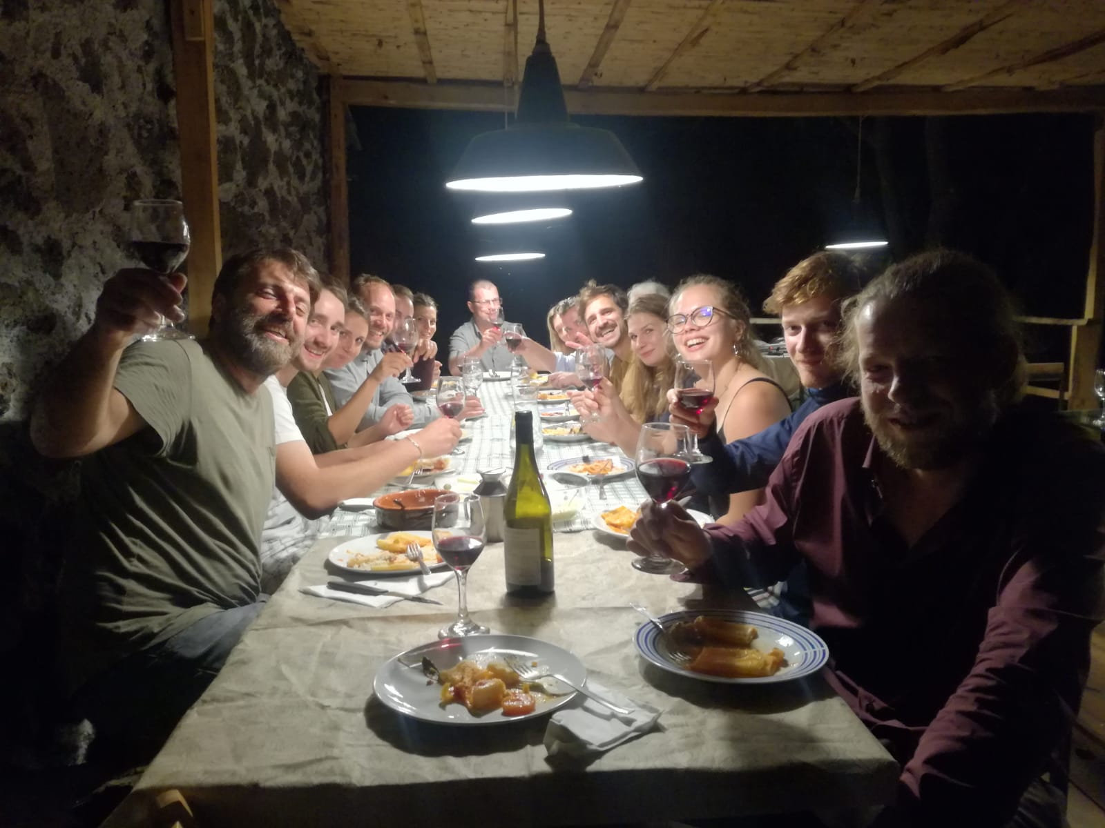 """Dinner at """"notti stellate"""" natural wine"""