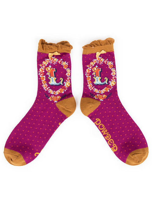 """L"" Ankle A-Z Socks"