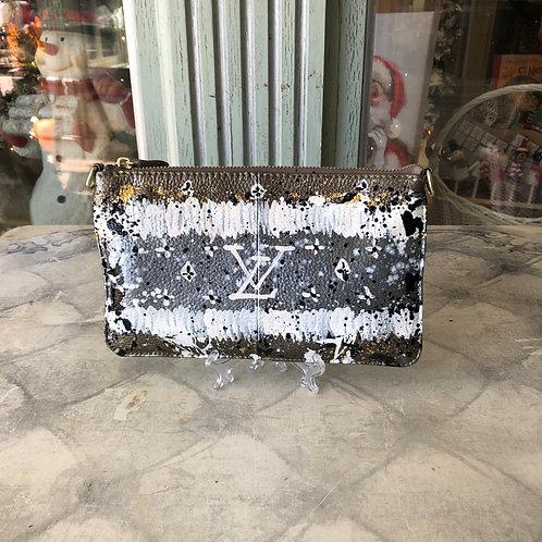 Anca Barbu Pewter Louis Vuitton Leather Clutch