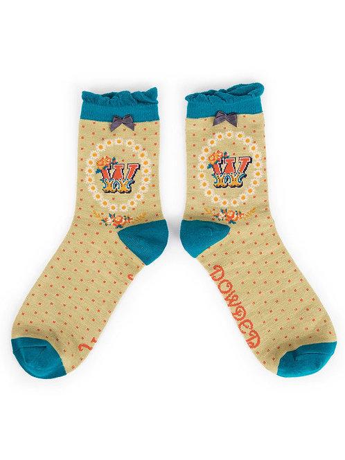 """""""W"""" Ankle A-Z Socks"""