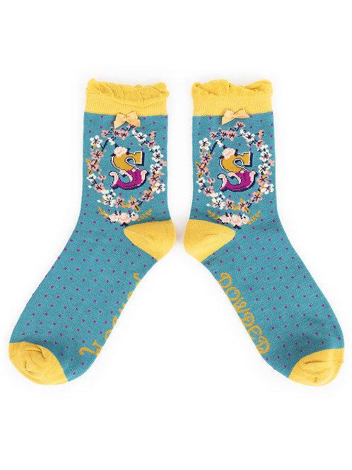 """S"" Ankle A-Z Socks"