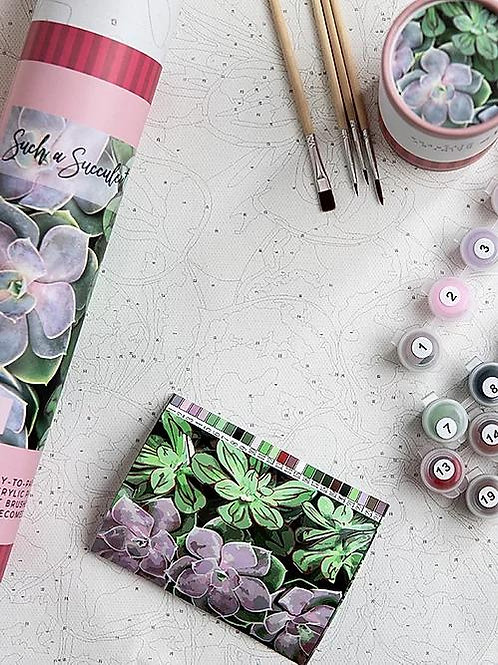Such a Succulent Paint by Number Kit