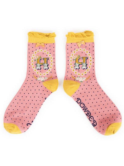 """H"" Ankle A-Z Socks"