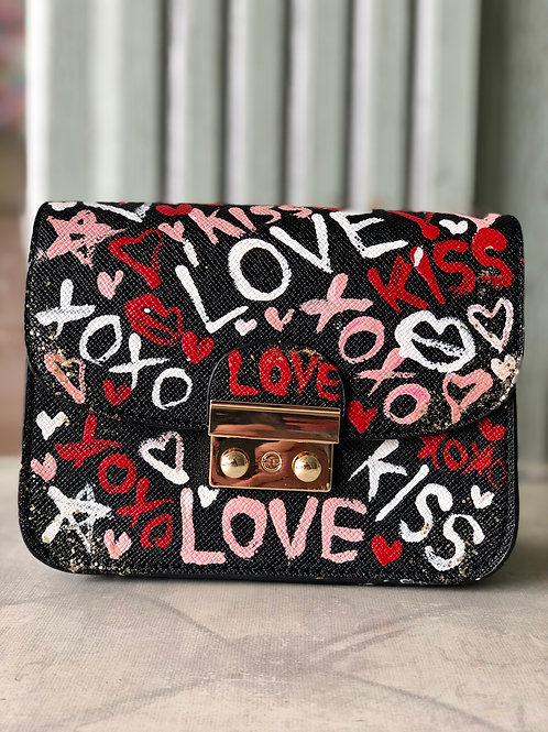 LOVE, XOXO, KISS Clutch