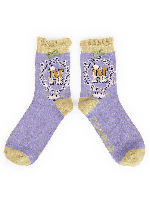 """N"" Ankle A-Z Socks"