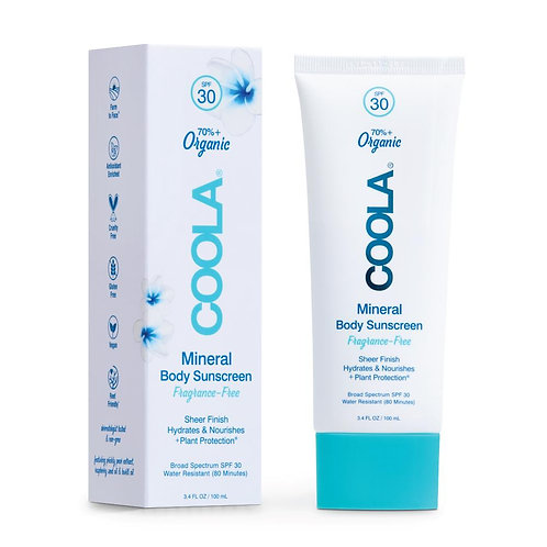 Mineral Body Organic Sunscreen SPF 30 - Fragrance Free