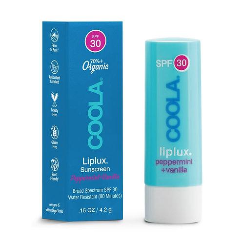 Classic Liplux Organic Lip Balm Sunscreen SPF 30 - Peppermint & Vanilla