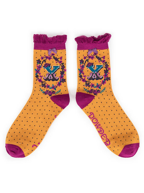 """X"" Ankle A-Z Socks"