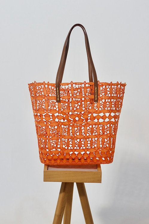 Melania Clara Lace Tote-Orange