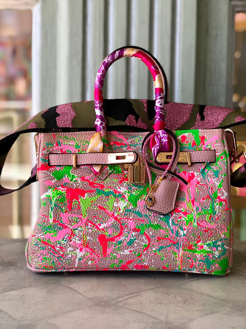 Pink Splattered Bag