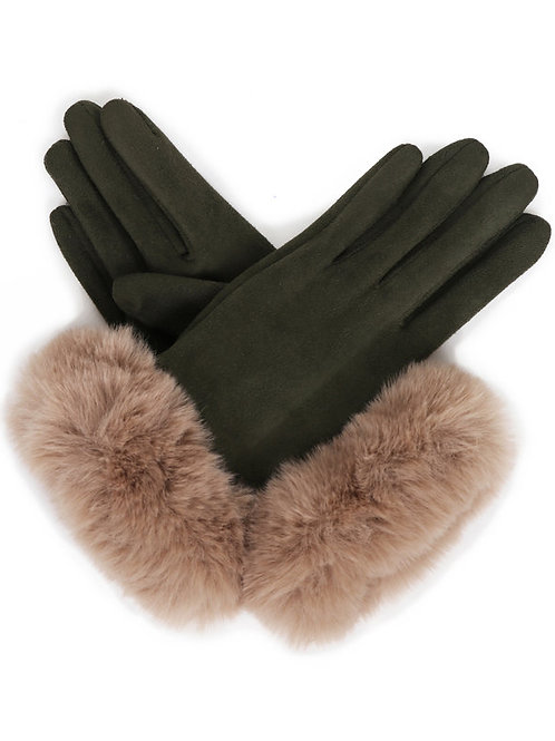 Bettina Faux Suede Gloves