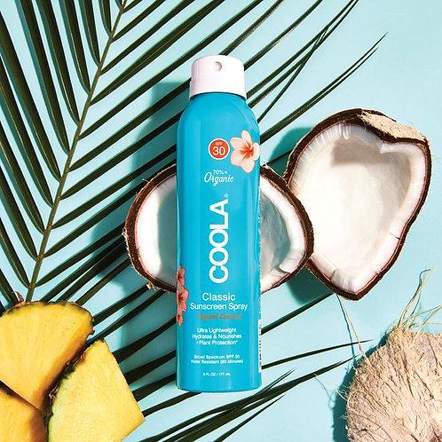 CLASSIC BODY ORGANIC SUNSCREEN SPRAY SPF 30- Tropical Coconut / 6 fl oz