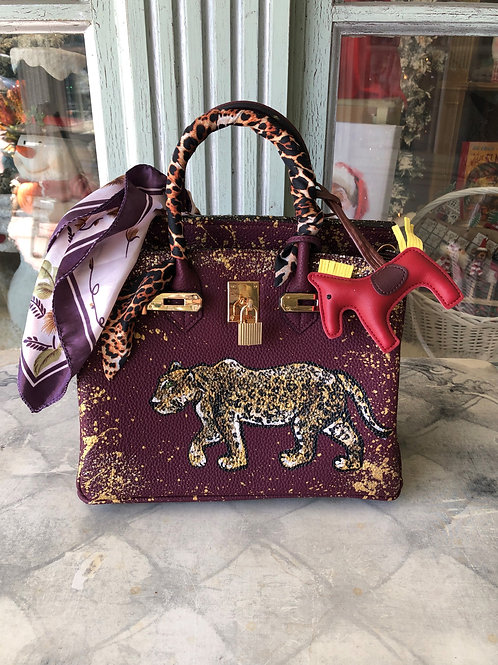 Anca Barbu Burgundy Jaguar Handbag