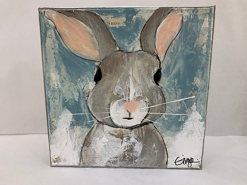 Todd, Blue Bunny On Canvas