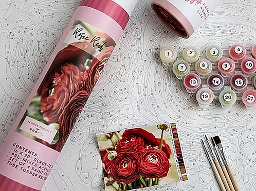 Rosie Reds Paint By Number Kit
