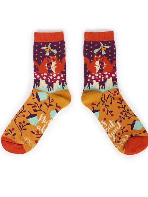 Snogging Squirrels Ankle socks