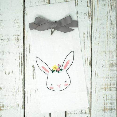 Easter Bunny Linen Towel