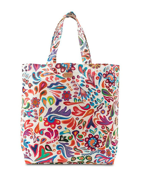White Swirly Basic Bag