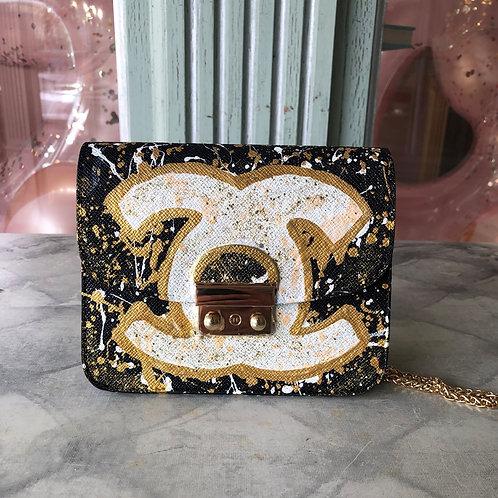 Anca Barbu Black&Gold Chanel Clutch