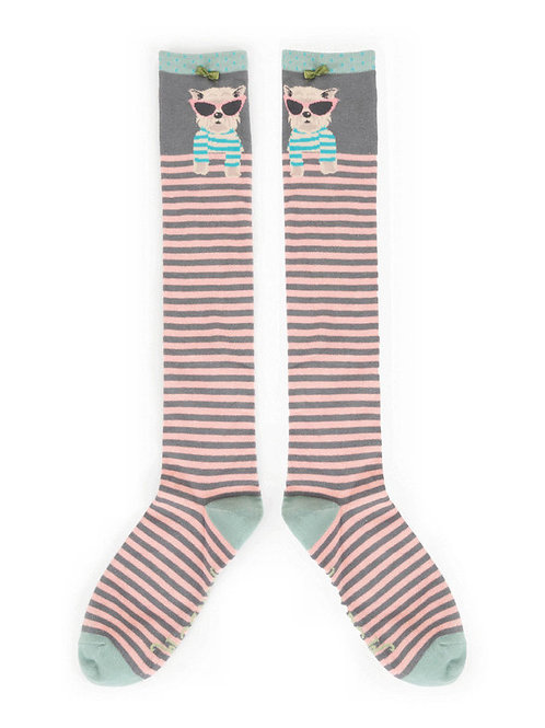 Sunglasses Westie Knee High Socks
