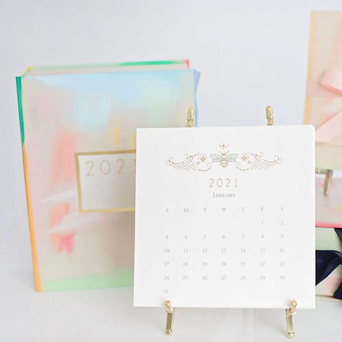 Karen Adams 2021 Calendar with Gold Easel