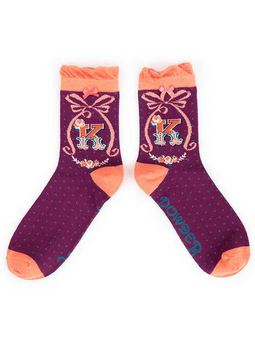 """""""K"""" Ankle A-Z Socks"""
