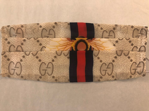 Gucci Bee on Stripe (mid)